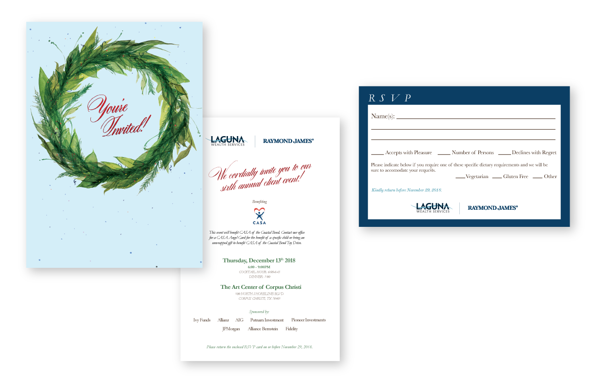 Laguna Wealth Services Holiday Card - Graphic Design - MPD