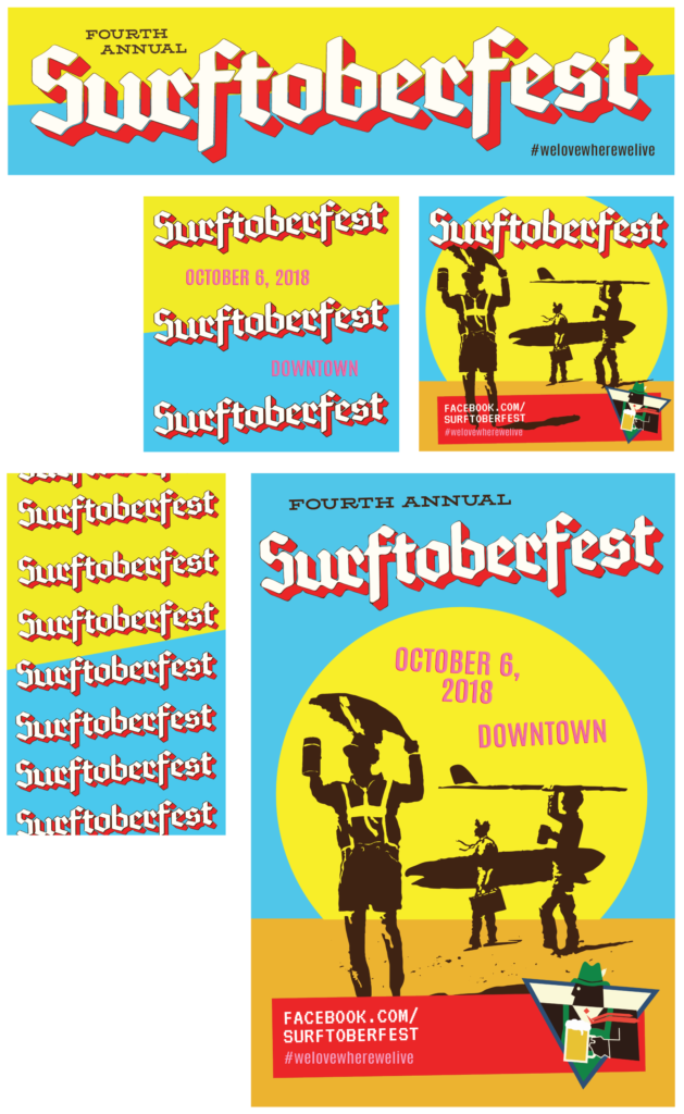 Surftoberfest - Event Branding - Graphic Design - MPD